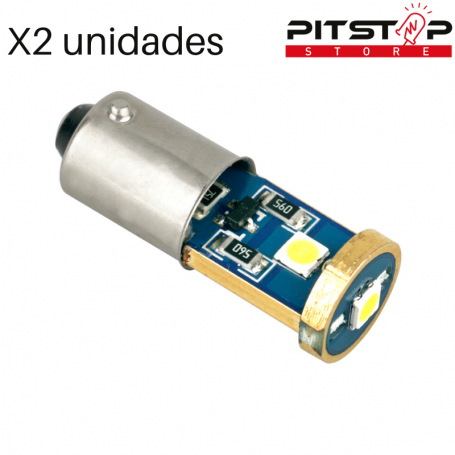2 bombillas Led CAN BUS BA9S (T4W) de 115 lumen