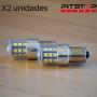 2 bombillas Led BA15S, BAU15S, BAY15D de 500 lumen y 6000k