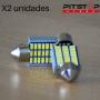 2 bombillas Led C5W (Festoon) CAN BUS de 202 lumen, 6000k blancas