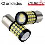 2 bombillas LedCAN BUS. BA15S-BAY15D-BAU15S-BA15D de 550 lumen