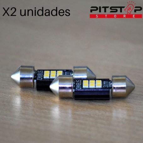 2 bombillas Led C5W (Festoon) CAN BUS (libre de error) y 240 lumen, 6000k blancas