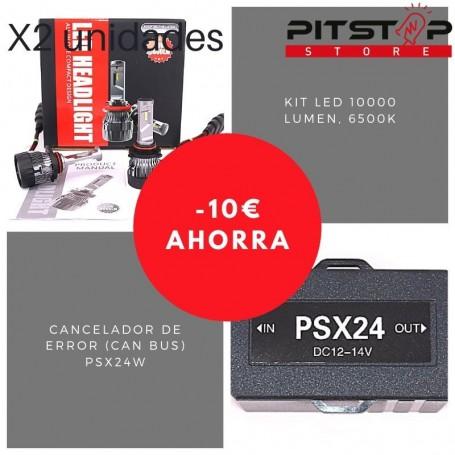 Pack bombillas Led PSX24W de 10000 lumen + Cancelador (Can Bus)