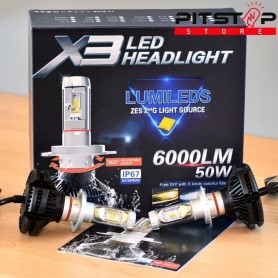 Bombillas Led H7 6000 lumen, 6500k
