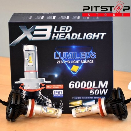 Bombillas Led H11 6000 lumen, 6500k