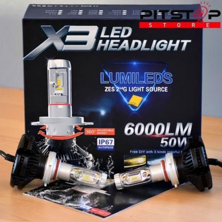 Bombillas Led HB3 (9005) 6000 lumen, 6500k