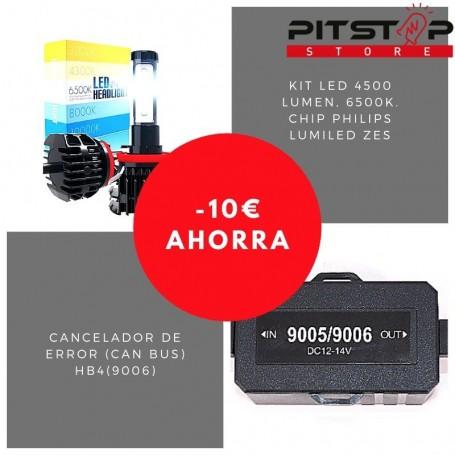 Pack bombillas led HB4 (9006) de 4500 lumen + Cancelador (Can Bus)